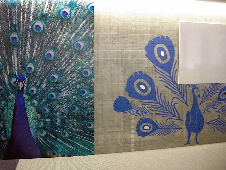 Peacock Design Wall Art : Beautiful peacock wall art design interior ideas