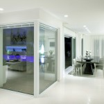 Beautiful Room with Glass Partition Panels Screens Dividers Walls