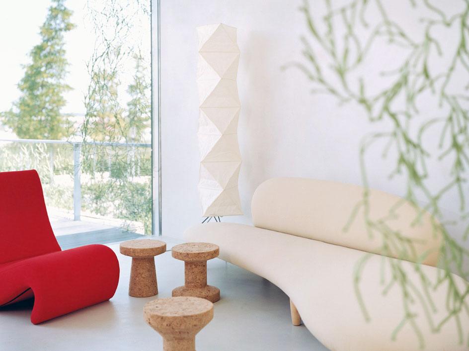Beige Modern Curved Sofa Design Living Room