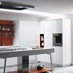 Burnt Orange Modern Kitchen Backsplash
