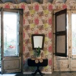 Classic Floral Wallpaper Living Room Ideas