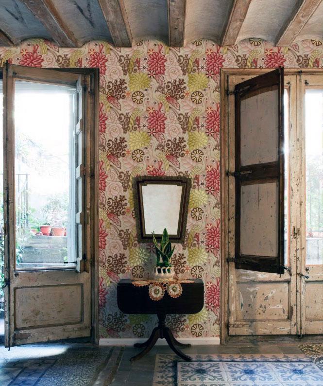 Classic Floral Wallpaper Living Room Ideas