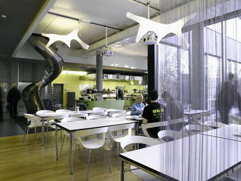 Clean Google Zurich Restaurant Design