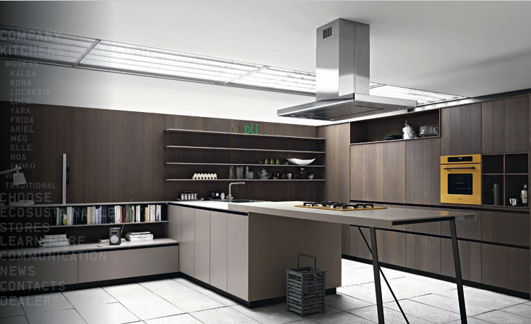 Cognac Oak Yellow Oven Kitchen Design