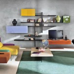 Modern Colorful Sectional Living Room Sofa