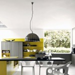 Cool Grey Mustard Yellow Kitchen Ideas