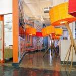 Decorative Interior Office with Orange Accents