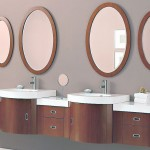 Double Modern Sink with Ouval Mirror Ideas