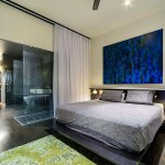 Fancy Bedroom Apartment with Large Curtain