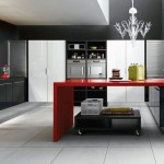 Gothic Black Red Kitchen Design
