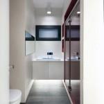 Luxurious Red White Apartment Modern Wash Basin Ideas