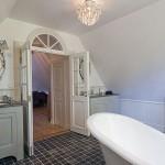 Luxury Classic Bathroom with Crystal Chandelier
