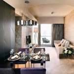 Luxury Dining Space Ideas with Chrome Pendant Light