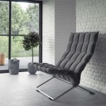 Modern Gray Feature Chair with Interior Brick Wall