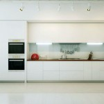 Modern Open White Kitchen with Double Oven