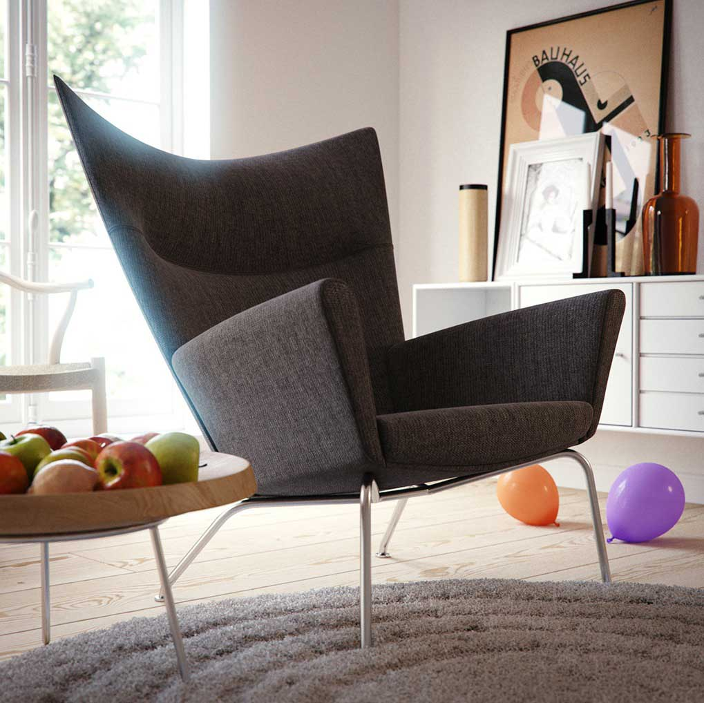 Modern Unique Grey Chair Design Living Space