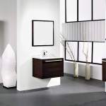 Modern White Bathroom with Wooden Washbasin Cabinet Ideas