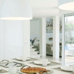 Modern White Dinning Room Design