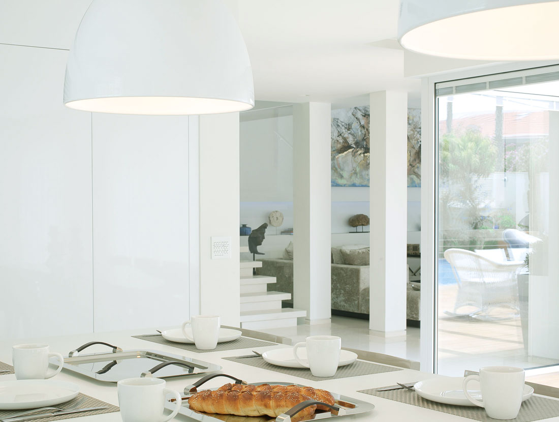 This is a modern sea shell residence
