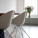 Modern White Plastic Chairs Design