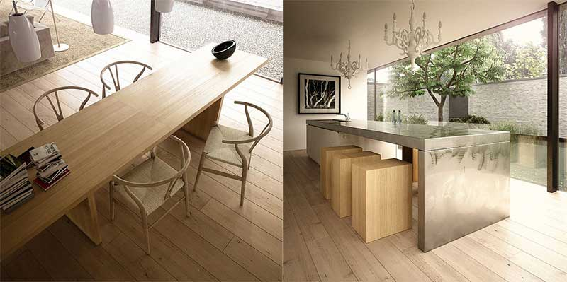 Neutral Beech Dining Rooms Design