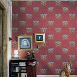 Old Style Modern Wallpaper with Red and Gold Accents