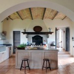 Open Kitchen Counterop with Wooden Furniture