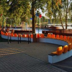 Orange Chairs Design on Water Playground