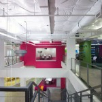 Pink and White Interior Office Design
