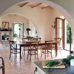 Rustic Open Dining Room Villa Ideas
