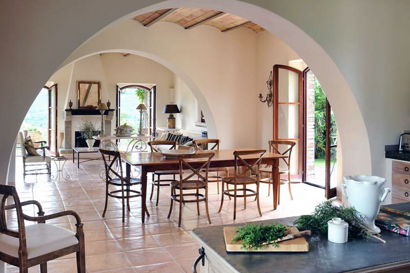 rustic open dining room villa ideas col delle noci italian villa run