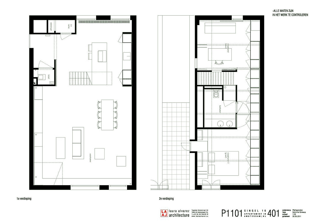 Sketch of The Apartment Floorplan Design