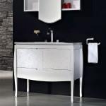 Sonia Nouveau Bathroom with Black Sink Backsplash
