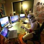 Star Wars Stormtrooper Costume in Workplace