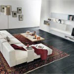 The Perfect White Sofa with Oriental Rugs