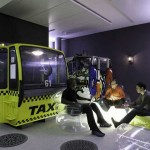 Unique Informal Meeting Room with Yellow Taxi Decor