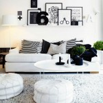 Urban Living Room with White Black Color Ideas
