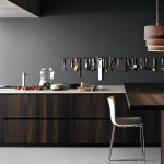 Walnut Modern Coffee Kitchen Design