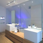 Wet Room With Large Mirror Design