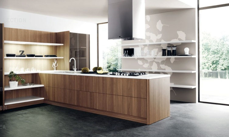 Wood Slab Countertops Modern Kitchen Interior Design Ideas