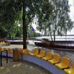 Yellow Chairs on Water Playground