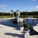 Amazing Castle House Design with Moat Patio Ideas