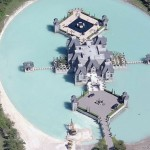 Amazing Castle House Suroundes by Moat Bird View