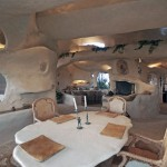 Amazing Caveman Style Dining Room Flintstone House Design
