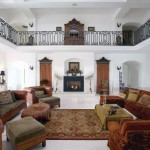 Awesome Chateaux Living Room with Luxury Sofas and Furniture
