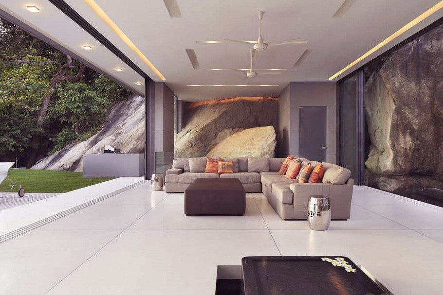 Awesome Grey Living Room Recessed Ceiling Light