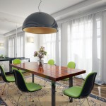 Awesome Lime Green Chairs in Large Dining Room