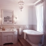 Beautiful White Classic Bathroom with Roll Top Bath