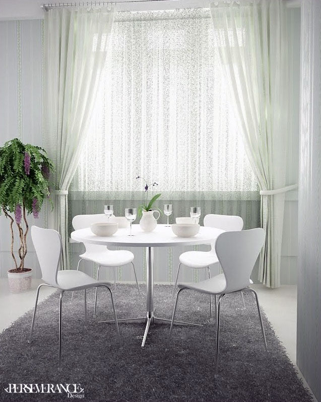 Beautiful White Dining Room Table Chairs Set