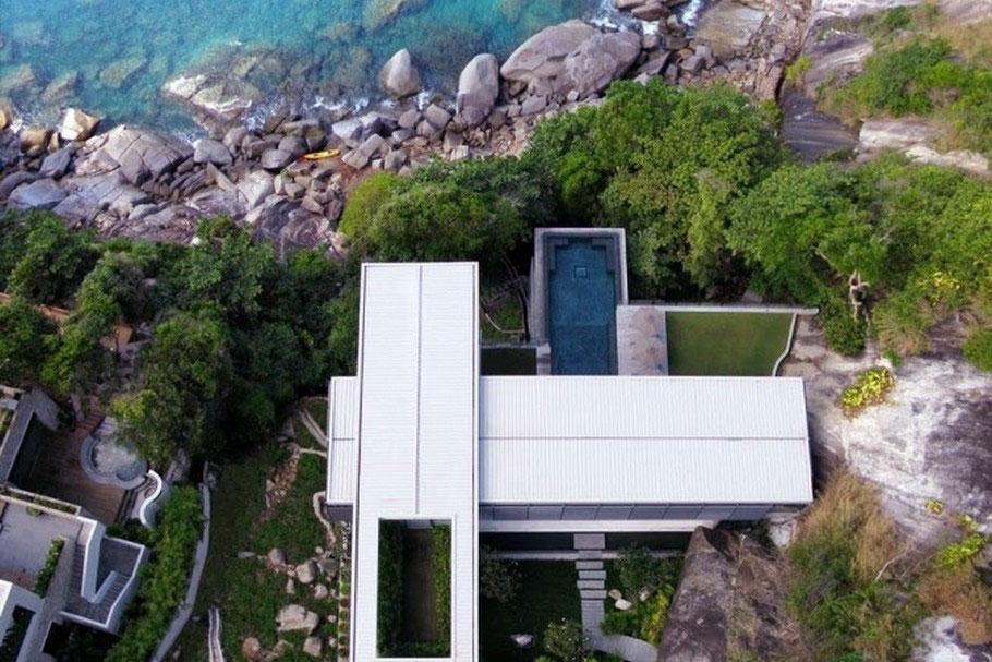 Centilevered Villa Amanzi Bird Eye View